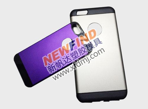 iphone6 4.7寸5.5寸双色手机保护套模具